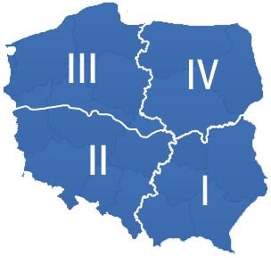 mapa regionow